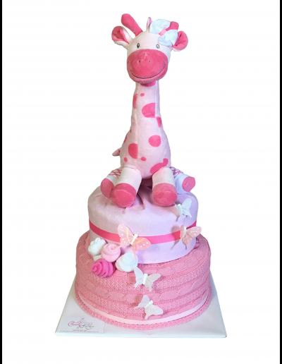 Pink Giraffe Kake
