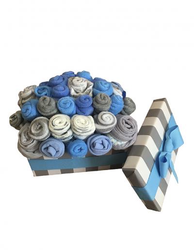 Blue Chest Bouquet